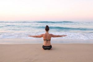 marta en la playa
